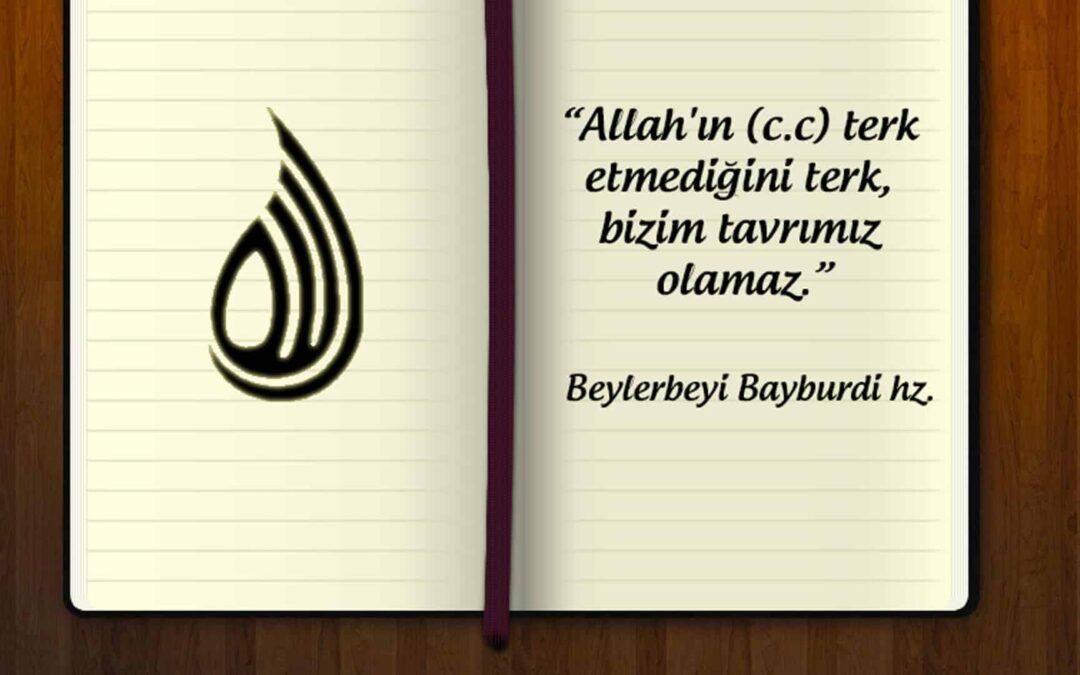 Allah'ın (C.C.) terk etmediğini terk bizim tavrımız olamaz!